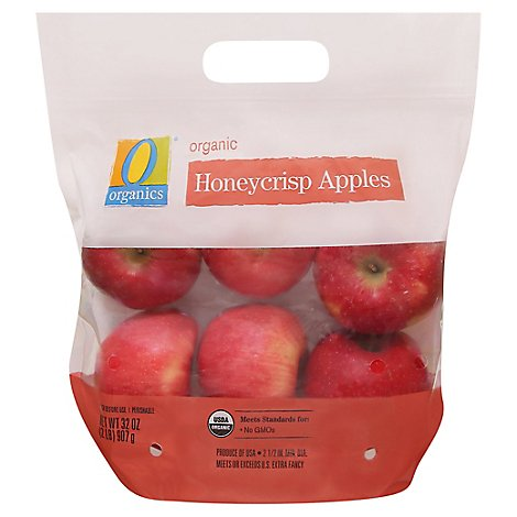O Organics Apples Honeycrisp - 2 Lb