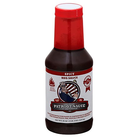 Code 3 Spices Sauce Bbq Patriot Spicy - 21 Oz