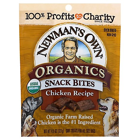 Newmans Own Organics Chicken Snack Bites Dog Treats - 4.5 Oz