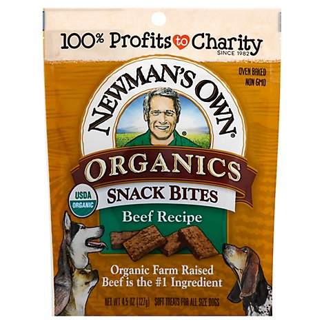 Newmans Own Organics Beef Snack Bites Do - 4.5 Oz
