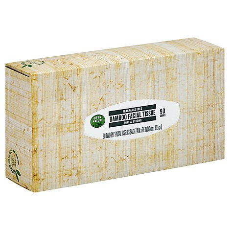 Open Nature Facial Tissue Bamboo - 90 Count