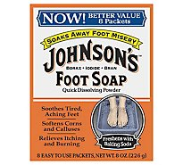 Johnsons Foot Soap - 8 Count