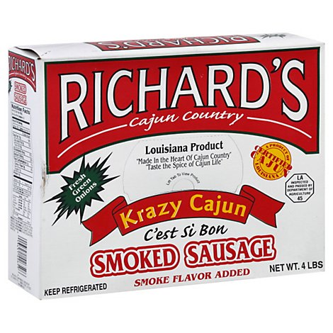 Krazy Cajun Green Onion Sausage - 64 Oz