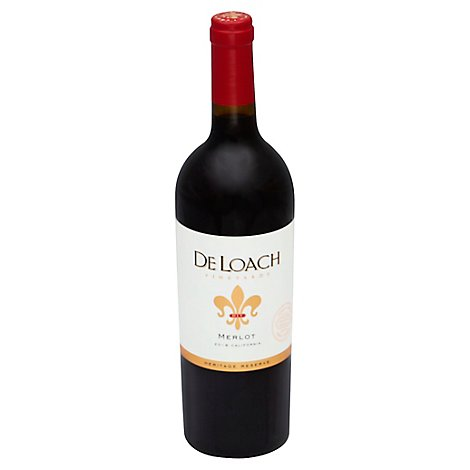 Deloach Merlot Wine Glass Bottle - 750 Ml