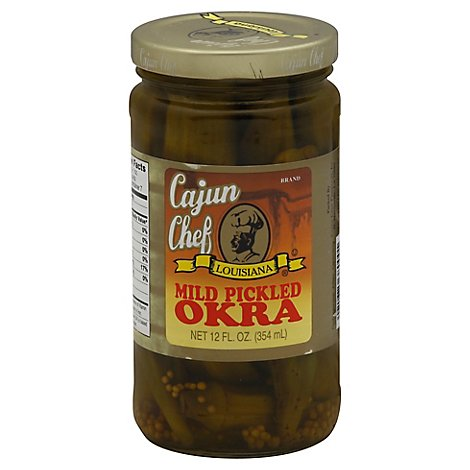 Cajun Chef Mild Pickled Okra 12 Oz. - 12 Oz