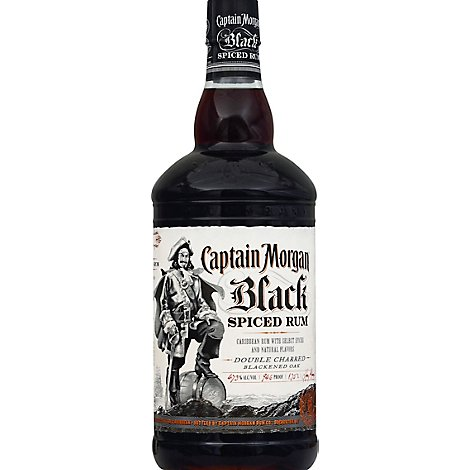 Captain Morgan Rum Black Spiced - 1.75 Liter
