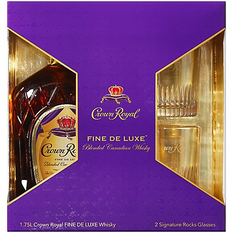 Crown Royal W State Glasses - 1.75 Liter