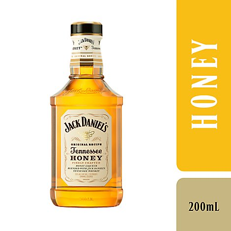 Jack Daniels Whiskey Tennessee Honey Flavored 70 Proof - 200 Ml
