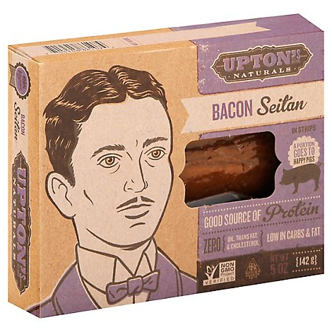 Uptons Naturals Seitan Bacon In Strips - 5 Oz