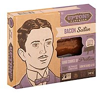 Upton Naturals Bacon Seitan In Strips Low In Carbs And Fat - 5 Oz