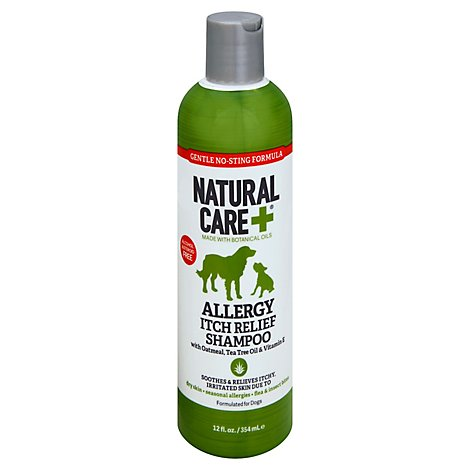 Natural Care Shampoo Itch Relief Allergy With Oatmeal Tea Tree Oil & Vitamin E - 12 Oz