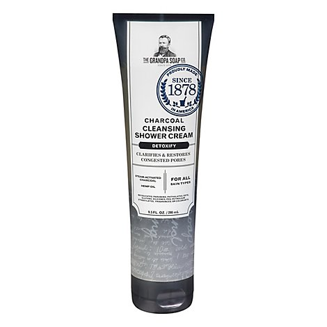 Grandpas Shower Crem Chrcoal Clens - 9.5 Oz