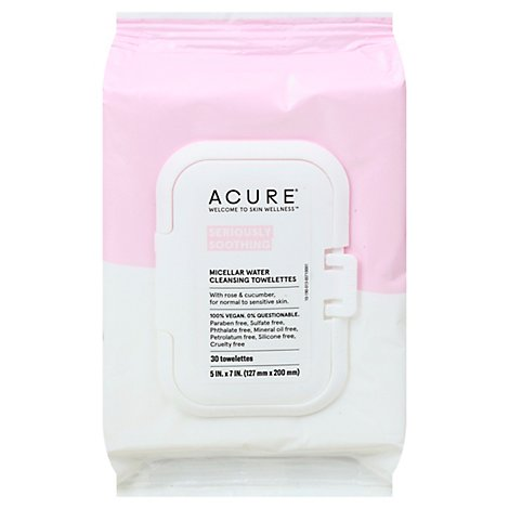 Acure Towelettes Soothe - 30 Count