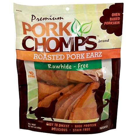 Pork Chomps Roasted Pork Earz - 10 Count