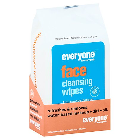 Everyone Wipes Face 3in1 Cleansing - 30 Count