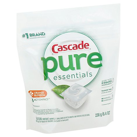Cascade Free & Clear Dishwasher Detergent ActionPacs Orange Blossom - 16 Count