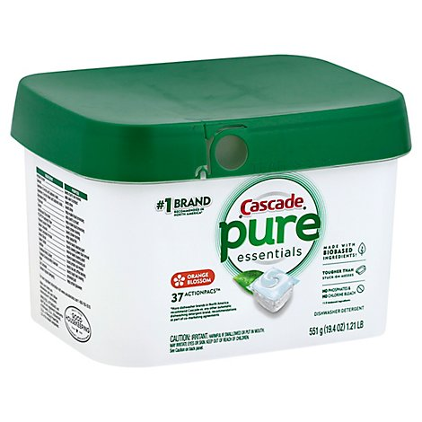 Cascade Free & Clear Dishwasher Detergent ActionPacs Orange Blossom - 37 Count