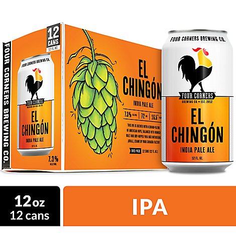 Four Corners El Chingon In Cans - 12-12 Fl. Oz.
