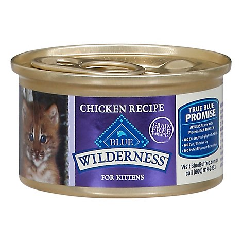 Blue Wilderness Kitten Chkn Wet Cat Food - 3 Oz