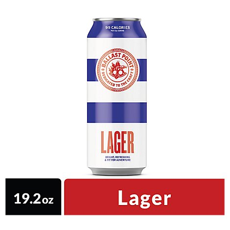 Ballast Point Lager In Cans - 19.2 Oz