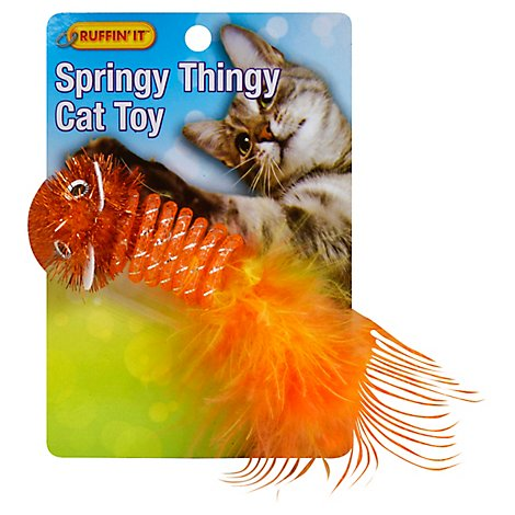 Ruffin It Cat Toy Springy Thingy - Each