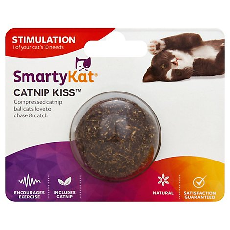 Smartykat Catnip Kiss Compressed Catnip Ball - 1 Each