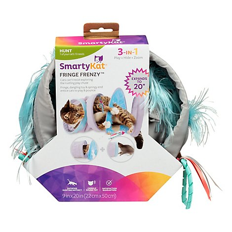 Smartykat Fringe Frenzy Cat Activity Tunnel - 1 Each