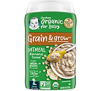 Gerber 2nd Foods Cereal Org Banana - 8 Oz