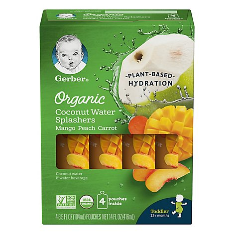 Gerber Org Coconut Carrot Peach Mango - 15.52 Oz