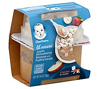 Gerber Lil Mixer Apple Strawberry Banana Puffs - 3.6 Oz
