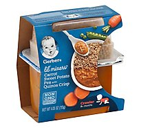 Gerber Lil Mixer Carrot Sweet Potato Peas Quinoa Crisps - 4.05 Oz
