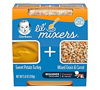 Gerber Lil Mixers Sweet Potato Turkey Mixed Grain Carrot - 5.6 Oz