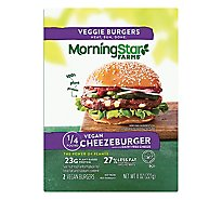 MorningStar Farms Vegan Burgers Cheezeburger Bag (2 Count) - 8oz