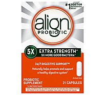 Align Probiotic Supplement Capsule Digestive Support 5x Extra Strength - 21 Count
