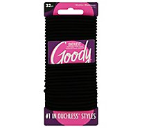 Goody Black Ouchless Elastics - 32 Count