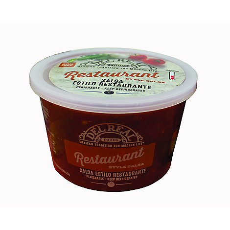 Del Real Restaurant Style Salsa - 15 Oz