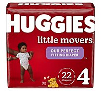 Huggies Little Movers Diapers Size 4 Jumbo Pack - 22 Count