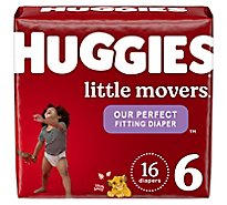 Huggies Little Movers Diapers Size 6 Jumbo Pack 16 - 16 Count