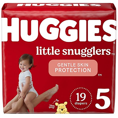 Huggies Little Snugglers Dprs Size 5 Jumbo Pk 19 - 19 Count