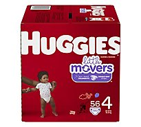 Huggies Little Movers Diapers Size 4 Big - 56 Count
