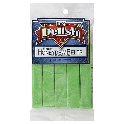 Honeydew Sour Belts - 3.5 Oz