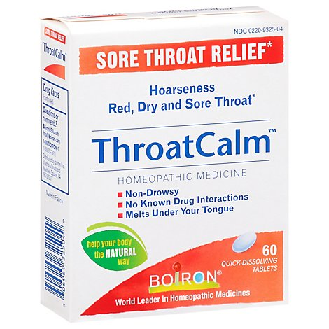 Boiron Throat Calm - 60 Count