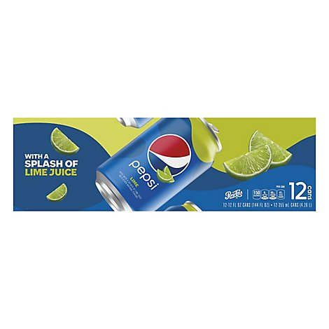 Pepsi Cola Soda Splash Of Lime - 12-12 Fl. Oz.