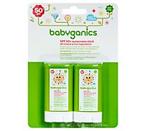 Babyganics Sunscreen Stick Spf 50 - 2-.47 Oz