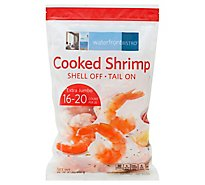 waterfront BISTRO Shrimp Cooked Peeled Tail On Extra Jumbo 16 To 20 Count - 32 Oz