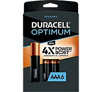 Duracell Optimum AAA Alkaline Batteries -  6 count