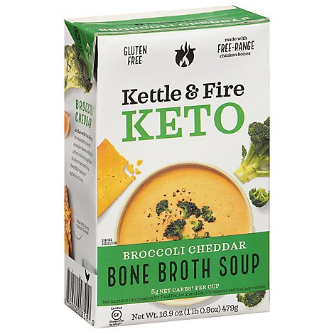 Kettle An Soup Cheddar Broccoli - 16.9 Oz