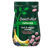 Beech-Nut Melties Toddler Snack Fruit & Veggie Banana Blueberry & Green Beans - 1 Oz