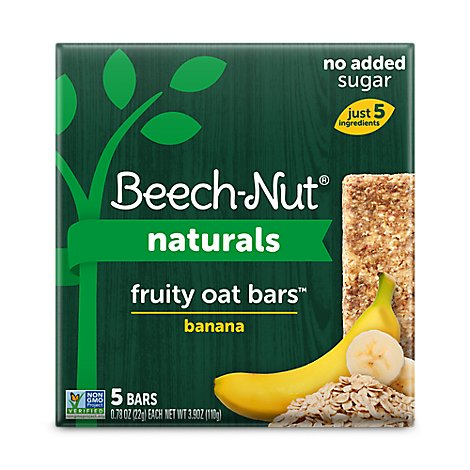 Beech-Nut Bars Fruity Oat Banana 5 Count - 3.9 Oz