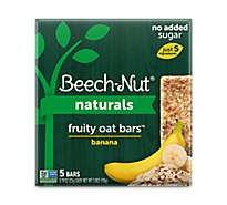 Beech-Nut Fruity Oat Bars Toddler Snack Banana 5 Count - 3.9 Oz